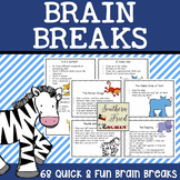 Brain Breaks! - animal theme - 68 fun and quick movement cards