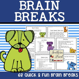 Brain Breaks! - dog theme - 68 fun and quick movement cards
