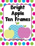 Bright Chevron Apple Ten Frames