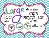 Bright Chevron Table Signs (1-10)