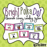 Bright Polka Dot Classroom Library Labeling System