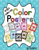 Bright Polka Dot Color Posters