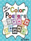Bright Polka Dot Color Posters