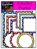 Bright Polka Dot Frames {Creative Clips Digital Clipart}
