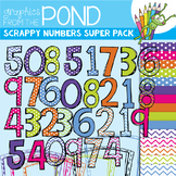 Bright Scrappy Numbers SUPER Pack!