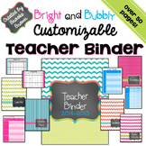 Bright and Bubbly CUSTOMIZABLE Teacher Binder {2015-2016}