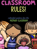 Bright on Black - Subway Art Style Classroom Rules - With