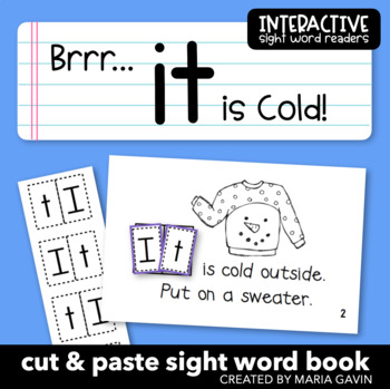 """Interactive Sight Word Reader """"Brrr... It is Cold!"""""""