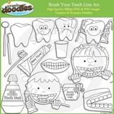 Brush Your Teeth Line Art