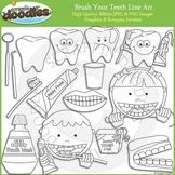 Brush Your Teeth Line Art