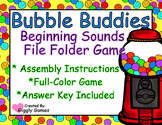 Bubble Buddies Beginning Sounds File Folder Game