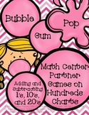 Bubble Gum Pop Math Center Games/ Activities +10, -10, +1, -1