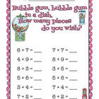 """Bubble Gum in a Dish"" 0-20 Math Addition"