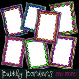 Bubbly Bright Swirly Borders- 7 Frames