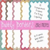 Bubbly Calm Glitter Frames~ 20 Glitter Frames {Commercial Use}