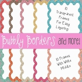 Bubbly Calm Glitter Frames~ 20 Glitter Frames {Commercial Use}