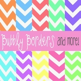 Bubbly Pastel Chevron Digital Scrapbook Backgrounds- Comme