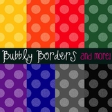 Bubbly Primary Muted Polka Dots Digital Scrapbook Backgrou