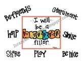 Bucket Filler Packet + Coupons