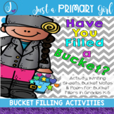Bucket Filler Poem, Activity, writing Prompt and Bucket No