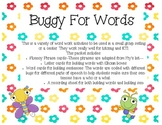 Buggy For Words (Activities to use for Intervention and Sm