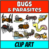 Insects, worms and spiders Clipart