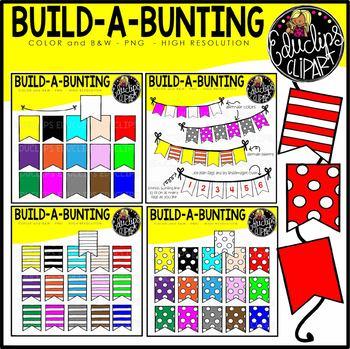 Build A Bunting Clip Art Bundle