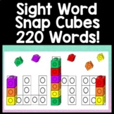 Sight Word Practice with Snap Cubes {220 Words!}