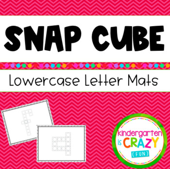 Build-a-Letter Fine Motor Alphabet Cubes Literacy Station