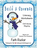 Build a Snowman Literacy Worksheets