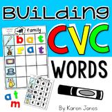 Building CVC Words {Magnetic Letter Center}