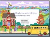 Building speech and language skills