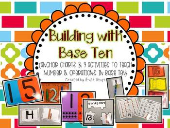 Building with Base Ten {Anchor Charts & 9 Activities to Support CCSS K.NBT.A.1}