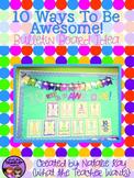 Bulletin Board Idea: 10 Ways to Be Awesome (Decor)