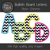 Bulletin Board Letters: 4-Color Neon Chevron (Classroom Decor)