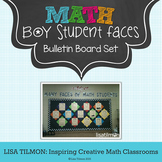 Bulletin Board Math Student Faces (Boy)