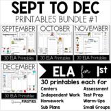 Bundle 1 - Common Core Crunch September to December - ELA