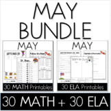 Bundle - Common Core Crunch May - Math & ELA CCSS Printables