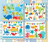 Bundle Pack -  Under The Sea / Fish Clipart