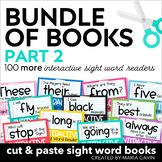 Bundle of Books, Part 2 {Interactive Sight Word Reader BUN