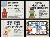 Bundled Dolch Sight Word Programs (Pre-Primer, Primer, 1st
