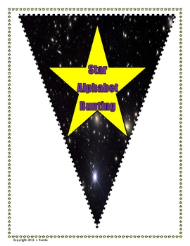 Bunting - Star Alphabet
