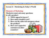 Business Principles - Lesson 11: Marketing In Today's World
