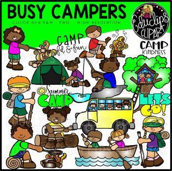 Busy Campers Clip Art Bundle