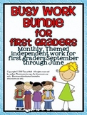 Busy Work Pack for First Graders {10 month BUNDLE}
