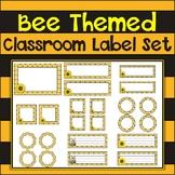 Bee Themed {Printable and Editable} Classroom Label Set