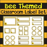 Bee Themed {Printable and Editable} Classroom Label Set