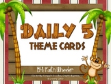 Daily 5 Cards (Monkeys)