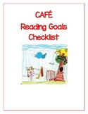 CAFE Reading Goals Checklist