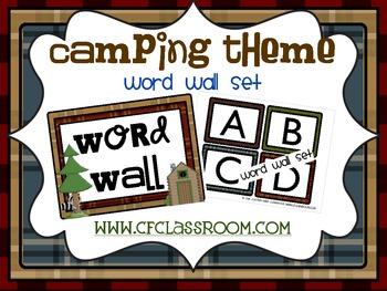 CAMPING THEME WORD WALL SET-classroom theme {printables)